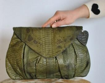 Vintage HANDMADE leather clutch ....(364)