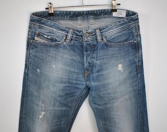 Vintage DIESEL jeans ,  VIKER model  men's jeans , advance patina blue jeans ....
