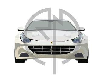 Ferrari FF Illustration