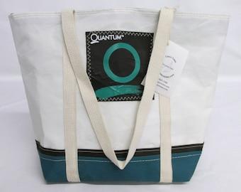 Nautical tote bag, recycled sails, recycled sail bag, sailcloth, HA009E