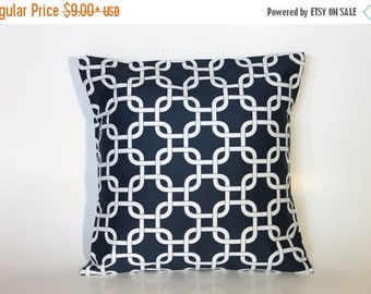 Pillow Decorative - Navy Accent Pillow Cover - Navy Blue Accent Pillow Cover 0025