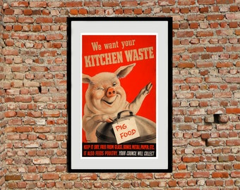 Reprint of a British Wartime Propaganda Poster