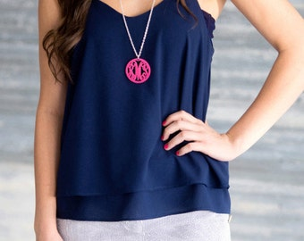 Acrylic Monogrammed Necklace (Larger sized one)