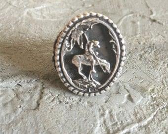 Vintage Large Silver Ring