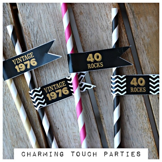 40th Birthday Decorations Etsy Image Inspiration of Cake and