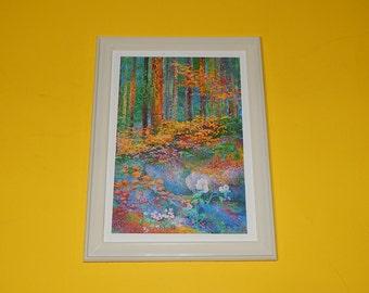 "5 1/2"" x 7 1/2"" Lee Co. Plastic Vintage Frame Forest Ledge Watercolor Card"