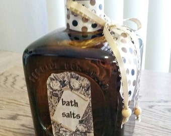 Repurposed Don Julio Brown Bath Salts Bottle
