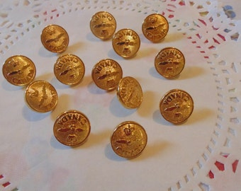 Vintage Gold Tone Buttons Sewing Buttons Fancy Buttons