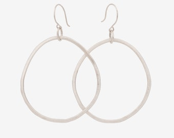 Large Sterling Silver Circle Earrings
