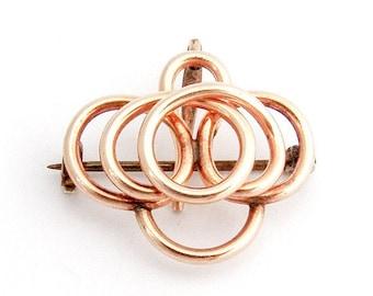 SaLe! sALe! Watch Pin Brooch Gold Filled