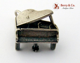 Vintage Grand Piano Charm Sterling Silver