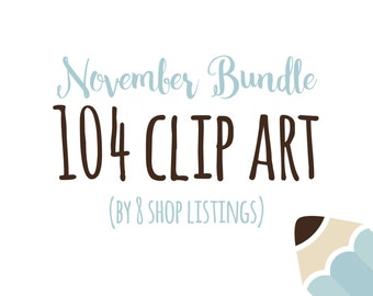 Bundle 104 Digital Clip Art for Personal or Commercial Use BD001