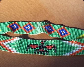 Native American (Cherokee) Handbeaded headband.