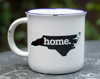 Camping Mug with Light Distressed Look   ***Available in all 50 States!!!***