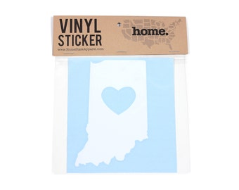 Indiana Heart Decal Car or Laptop Sticker by Home State Apparel