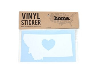 Montana Heart Decal Car or Laptop Sticker by Home State Apparel