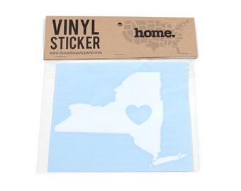 New York Heart Decal Car or Laptop Sticker by Home State Apparel