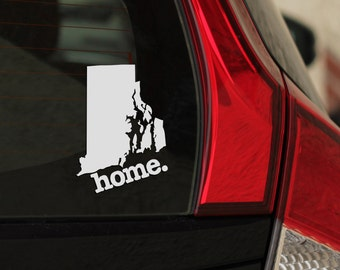 Rhode Island Home. Decal Car or Laptop Sticker