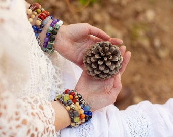 Wrap Boho Bracelet, Beaded Bracelet, Bohemian Bracelet