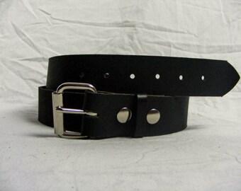 Black Buffalo Leather Belt