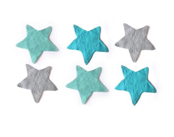 Sterne filz teppich mint blaugrau regelmäßige filz von cloudden