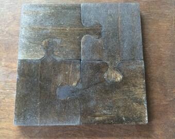 Puzzle Piece Trivet or Coasters