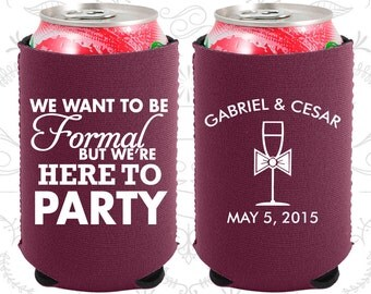 We want to be Formal, But we are here to Party, Neoprene Wedding, Wedding Party, Neoprene Wedding Favors (366)