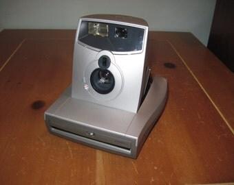 Polaroid 1200FF Silver / gray INSTANT FILM CAMERA