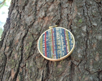 Embroidery Hoop Art / Fabric Hoop Art / Handmade Decor / Bohemian Fabric Wall Hangings / Nursery Decor / Textile Gifts / Gallery Wall Art