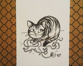 Original drawing - tabby cat