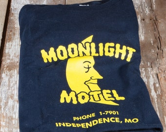 Moonlight Motel - Medium Navy Blue Tshirt