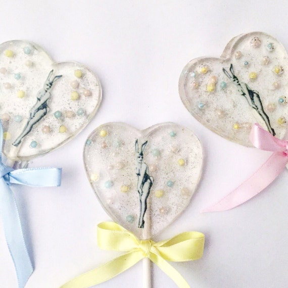 3 John Willie Pin Up Bunny Lollipops