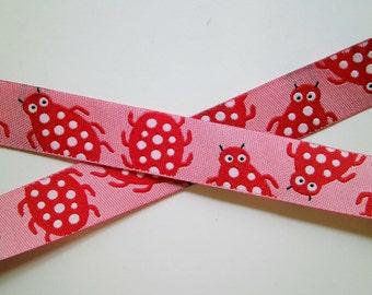 "1 m Woven Ribbon ""Candybugs"" 15 mm w."
