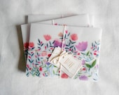 Blossoms - Set of 5 Handmade Envelopes for Letter writing / Snail mail
