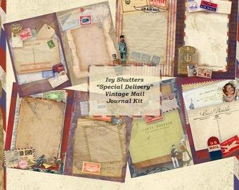 SALE Special Delivery Vintage Mail Journal Kit