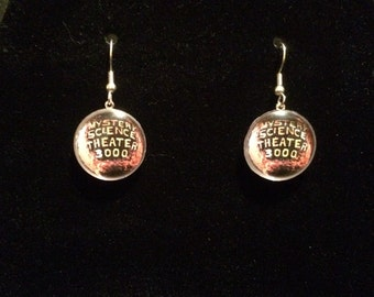 Mystery Science Theater 3000 Planet Logo Earrings - Dangle or Post Style