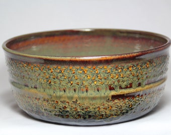 bowl, hand-thrown pottery bowl