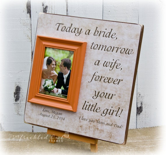 Personalized Wedding Picture Frames Parents : Wedding Gift for Parents, Personalized Picture Frame , Thank You Gift ...