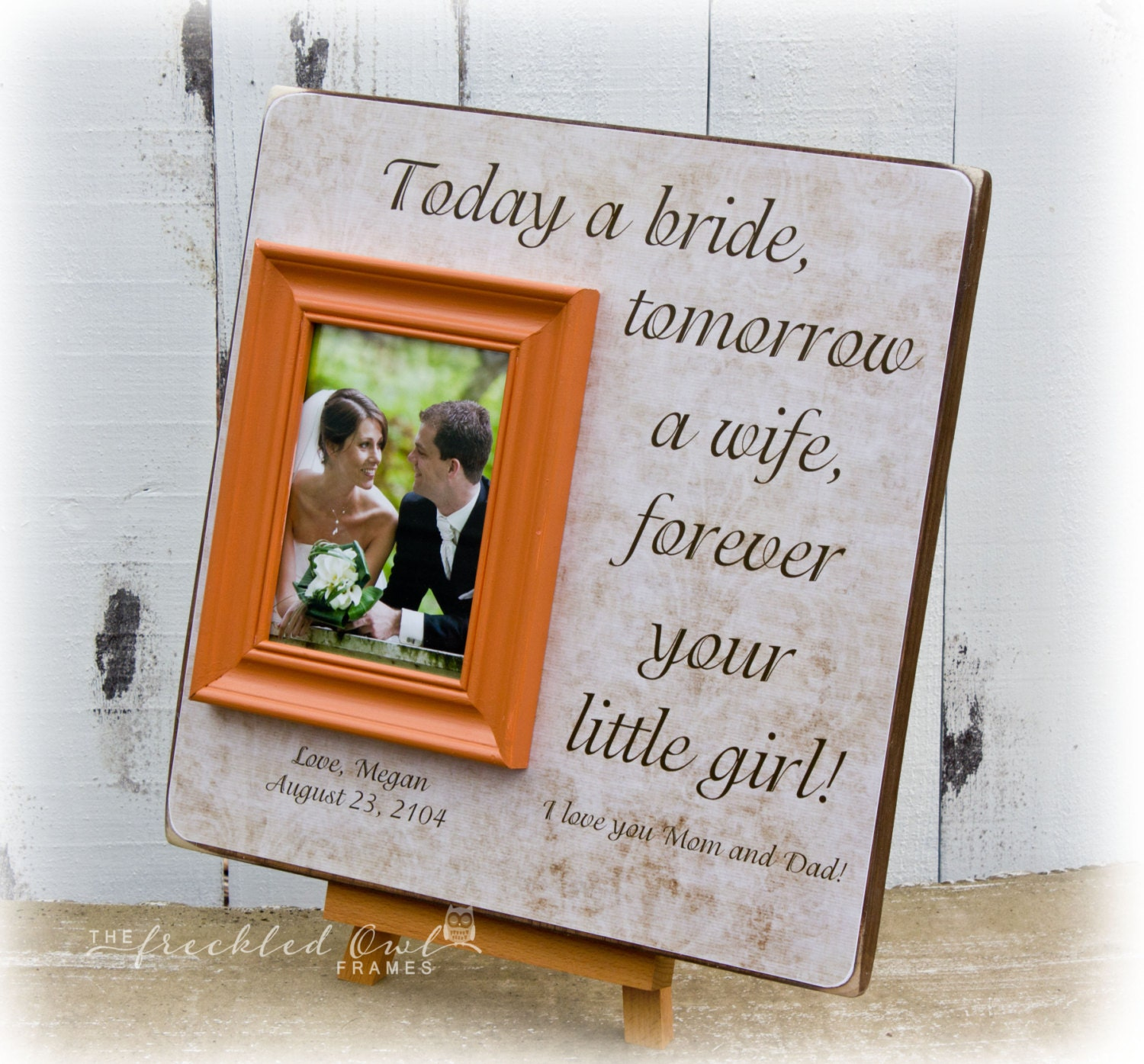 Personalized Wedding Picture Frames For Parents : Wedding Gift for Parents Personalized Picture Frame Thank