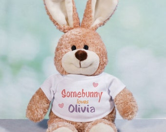 Personalized Somebunny Loves Me Bunny