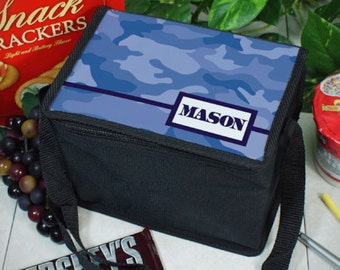 Personalized Camo Lunch Cooler