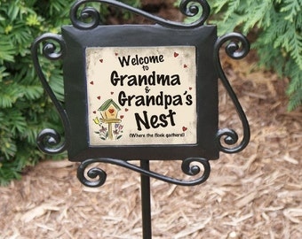 Personalized Our Nest Garden Stake