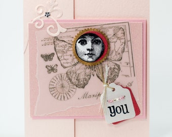 Handmade Paper Card, Thinking of You Card, Handmade Paper Goods, You Sparkle & Shine Greeting