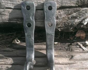 Wrought iron coat/towel hooks