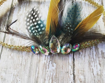 The Delilah feather crown