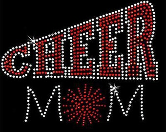 Rhinestone Transfer - Hot Fix Motif - Cheer Mom 2