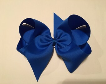 Extra Large Boutique Twisted Hair Bow Hand Sewn 3 in Grosgrain Ribbon