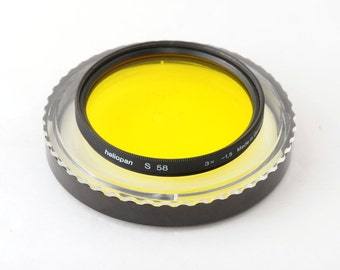 Heliopan 58mm Yellow S Lens Filter with Keeper