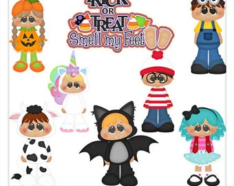 DIGITAL SCRAPBOOKING CLIPART - Trick Or Treat Smell My Feet