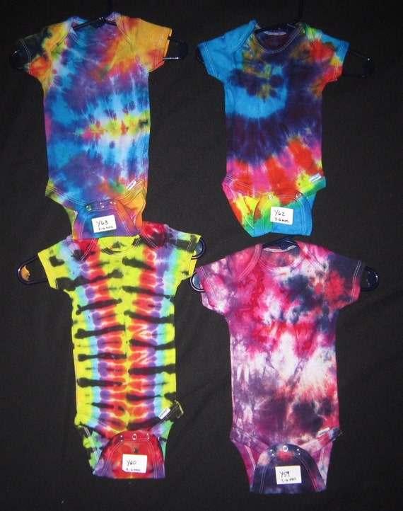 Psychedelic Baby Onesie Tie Dye Bodysuit by PsychedelicTieDyes